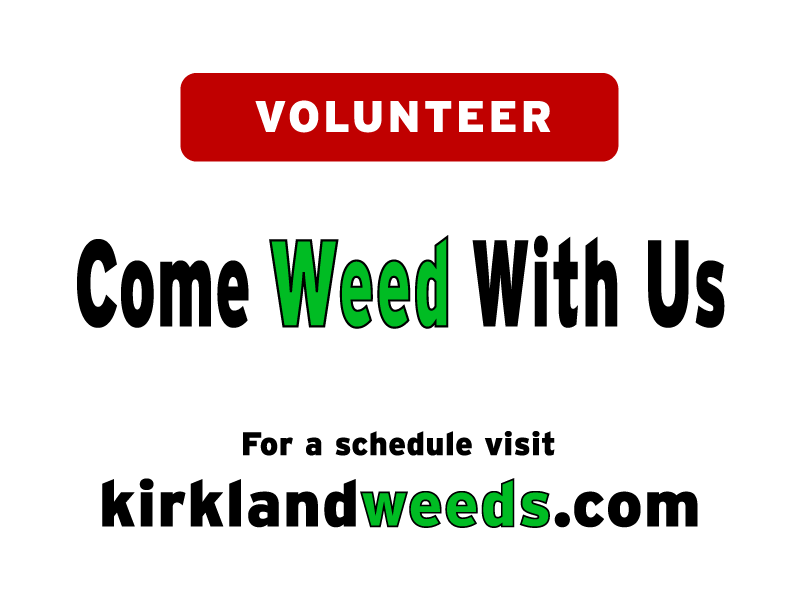 Image of the official weeding sign Come Weed With Us