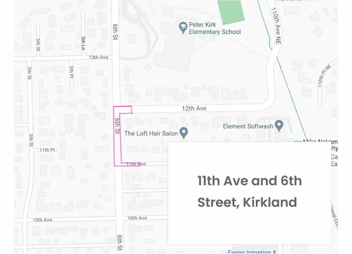 Map of 6th St. & 11th Ave.