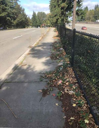 Image of 116th Ave NE Kirkland towards 132nd Street before