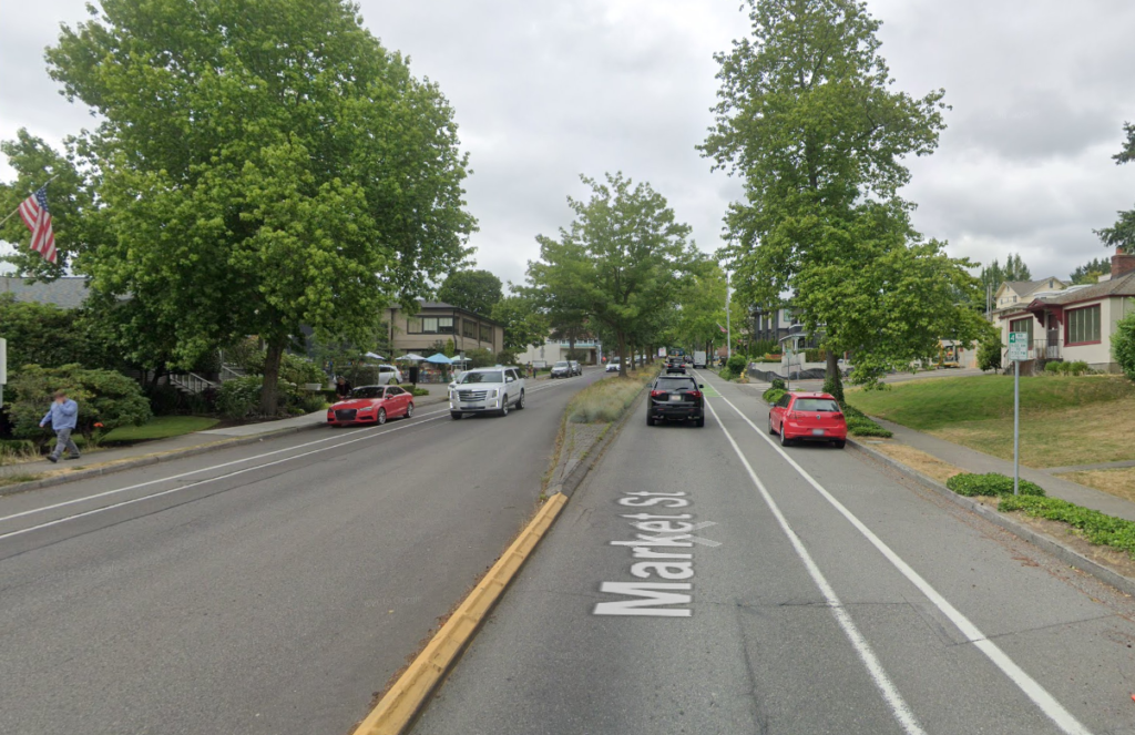 An image of Market Street at 5th Avenue Kirkland